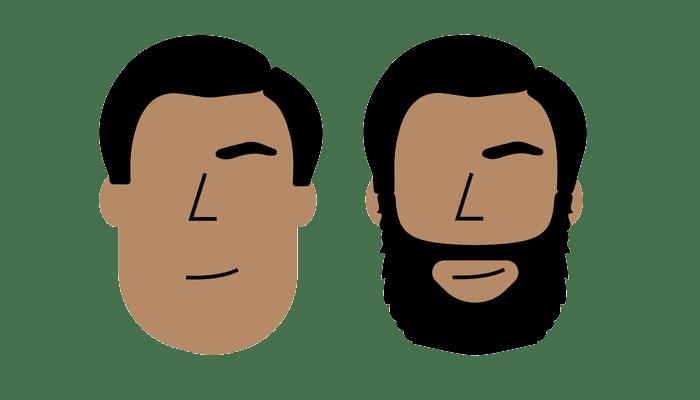 estilo de barba - oblongo ou rentangular