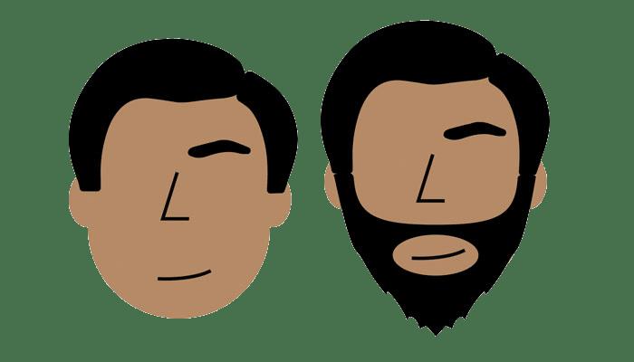 estilo de barba: rosto redondo
