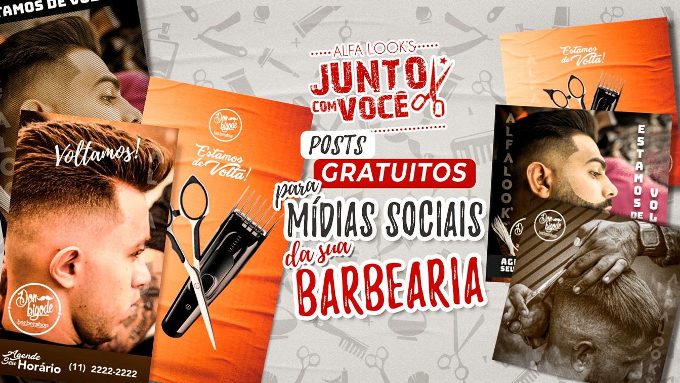 Posts Gratuitos Mídias Sociais Barbearia